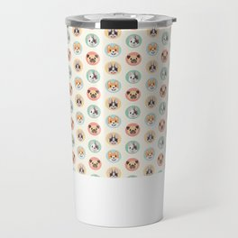 Circle Pup Pattern Travel Mug