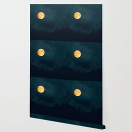 Full Moon Shines Overnight #decor #society6 #buyart #homedecor Wallpaper