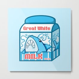 Great White Milk Metal Print