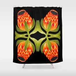 Floral symmetry 1. Shower Curtain