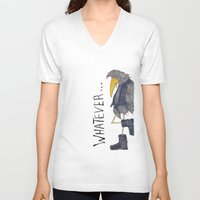whatever V-neck T-shirts featuring Whatever by Jennifer Geldard
