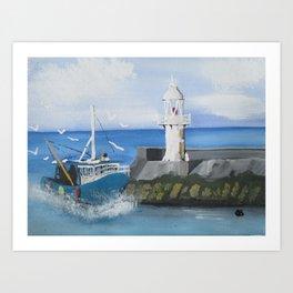 The Brixham Trawler Art Print
