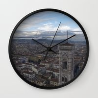 europe Wall Clocks featuring Europe by LonelyHeartsClub
