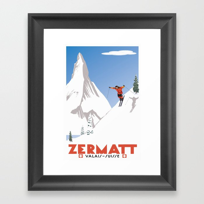 Zermatt, Valais, Switzerland Gerahmter Kunstdruck