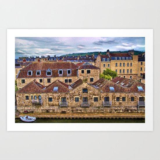 The City of Bath Art Print