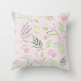 Simple and stylized flowers 4 Throw Pillow