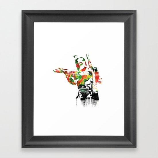 Boba Fett Print Framed Art Print