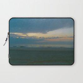 Blue Sunrise on Tybee Island Beach Laptop Sleeve