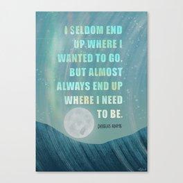 Douglas Adams Quote Canvas Print