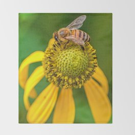 Be On A Flower Throw Blanket