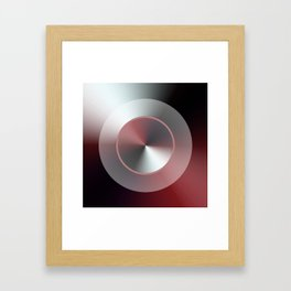 Serene Simple Hub Cap in Red Framed Art Print