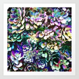 Colorful Abstract Plants Art Print