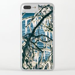 Icy Art Clear iPhone Case