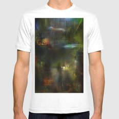 Somewhere in the future White MEDIUM Mens Fitted Tee
