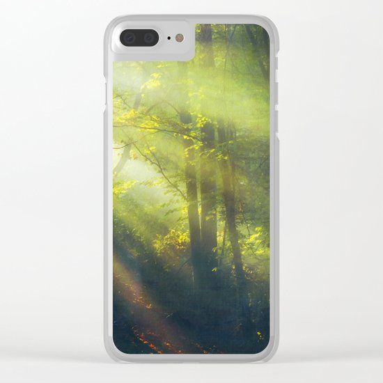 Rays - Morning Light in a Forest Clear iPhone Case