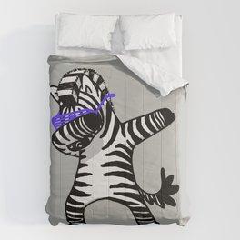 Dabbing Zebra Shirt Dab Hip Hop Funny Comforters