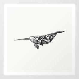 Unicorn of the seas Art Print