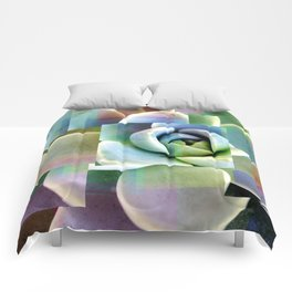 Succulents collage Comforters