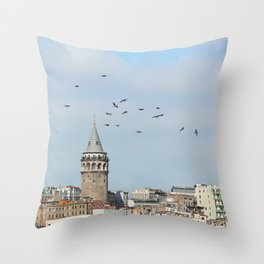 Galata Tower, Istanbul Throw Pillow