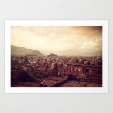 Kathmandu Sea Art Print