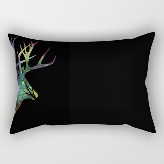 Space Deer Rectangular Pillow
