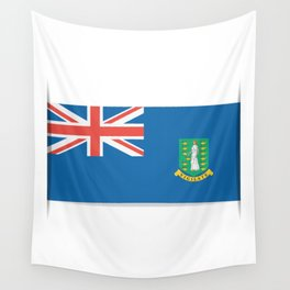 Flag of British Virgin Islands. The slit in the paper with shadows.  Wall Tapestry