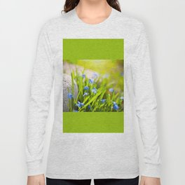 Scilla siberica flowerets named wood squill Long Sleeve T-shirt