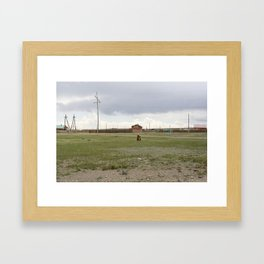 WITH GRANDMA Framed Art Print