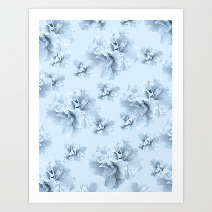 Light Blue Azalea Flower Dream #1 #floral #pattern #decor #art #society6 Kunstdrucke