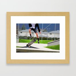 Missed Opportunity  - Skateboarder Framed Art Print
