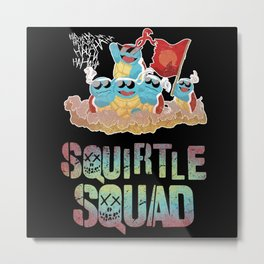 Squirtle Squad Metal Print