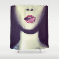 blood Shower Curtains featuring Blood by Kayleigh Kirkpatrick