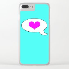 Teenage LOVE - Living Hell Clear iPhone Case