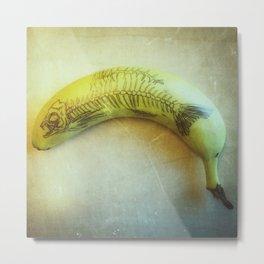 Banana Fish Bone Metal Print