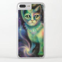 Cosmic Kitten Clear iPhone Case