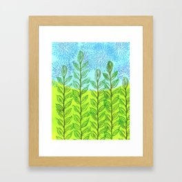 Green Meadow Framed Art Print