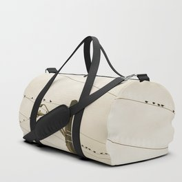 Birds on wires Duffle Bag