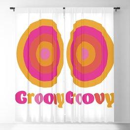 Groovy Blackout Curtain