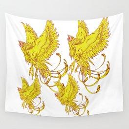 Bird of Fantasy Phoenix Wall Tapestry