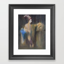 David with the head of Goliath. (After Guido Reni) Framed Art Print