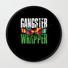 Gangsta Wrapper Wall Clock