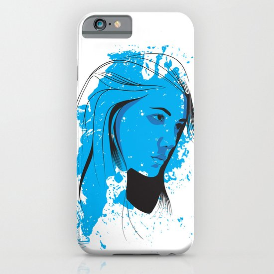 Black, blue & white II iPhone & iPod Case