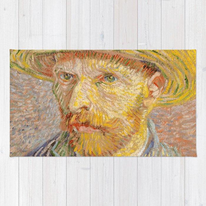 d617dca8a9b Vincent van Gogh - Self-Portrait with a Straw Hat - The Potato Peeler Rug