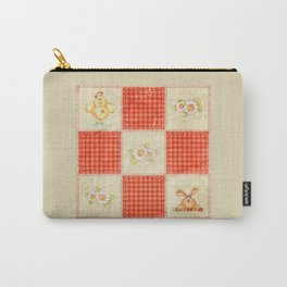 Gingham & Polka Dots Easter Quilt Carry-All Pouch