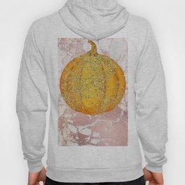 Luxury Glittering Gold Pumpkin on Rosegold Hoody