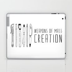 Weapons Of Mass Creation (on grey) Laptop & iPad Skin