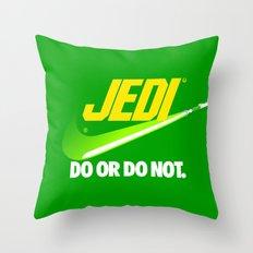 Brand Wars: Jedi - green lightsaber Throw Pillow