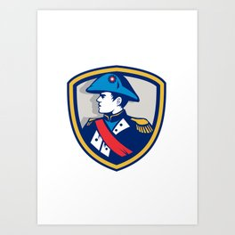 Napoleon Bonaparte Bicorn Hat Crest Retro Art Print
