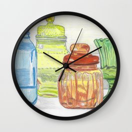 Colored Glass Wall Clock