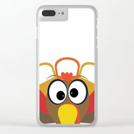 Wobble Turkey 2 Clear iPhone Case